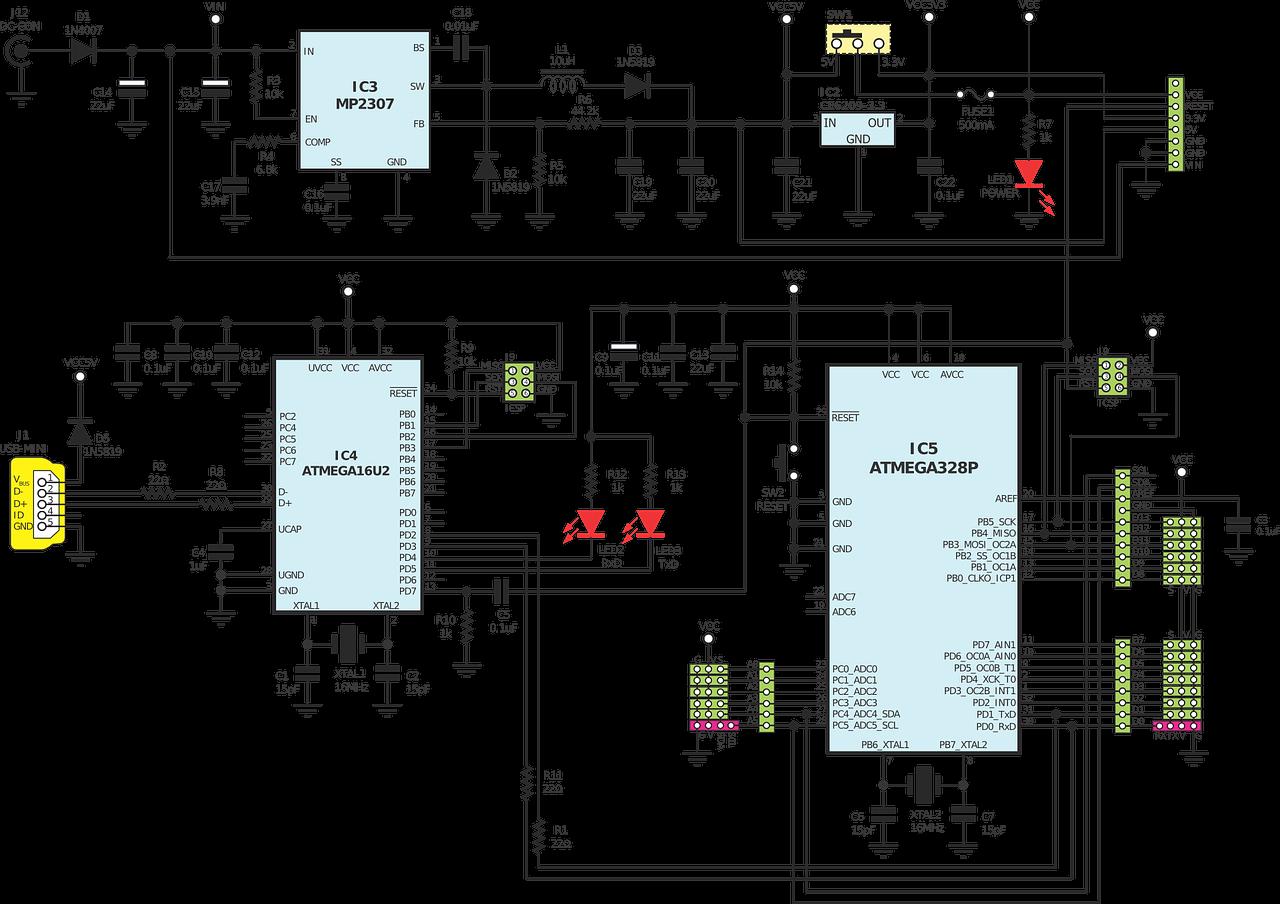 Arduino Circuits Diagram