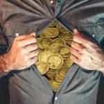 man gold coins